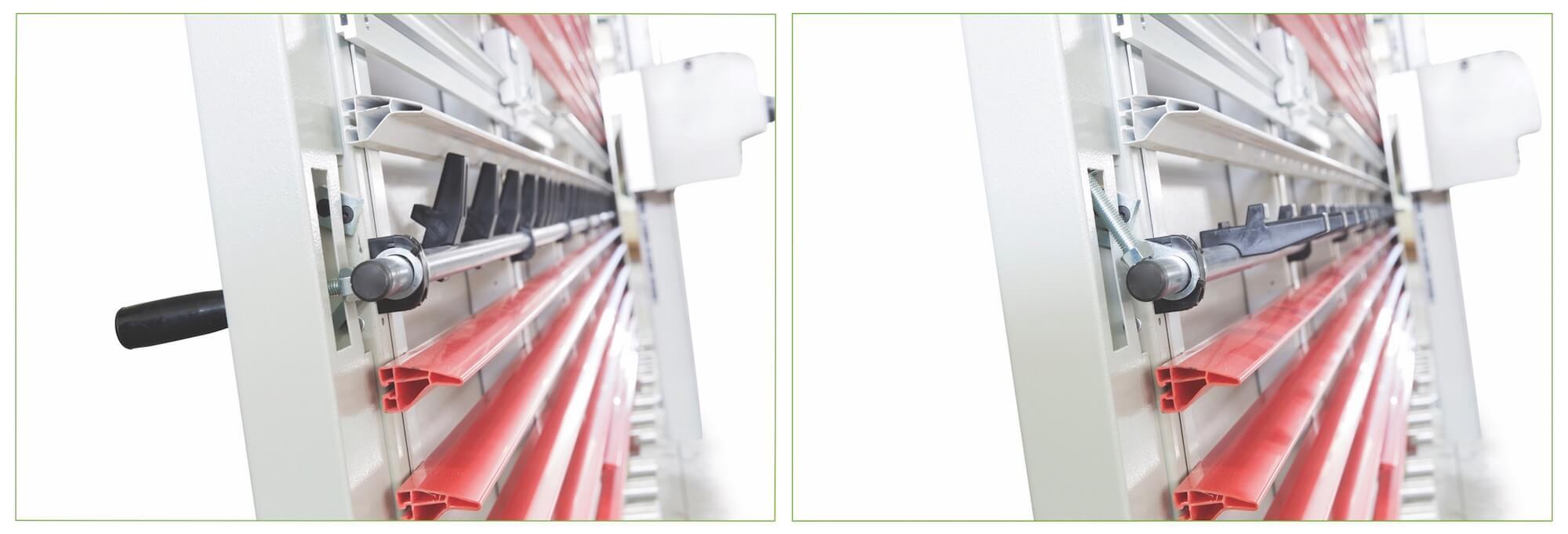 Dispositivo giratorio para el apoyo de pedazos pequenos de cortar.