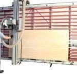 SEZIONATRICE VERTICALE MAKK Mod.DPME-D – Norme CE.Piano spostabile Automatico. Taglio Pannelli mm.4100×2100 (2200).Incluso Gruppo Incisore e Visualizzatore digitale per tagli verticali e orizzontali.