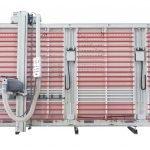 Sezionatrice Verticale MAKK Mod.DPM-KS, Sistema Bloccaggio Pannelli con Pinze