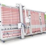 SCIE PANNEAUX VERTICALE AUTOMATIQUE MAKK Mod.DPM-KS, Systeme à Pinces pour Blocage Panneux. Coupe mm.5100x2200. Groupe Graveur. Visualisateur Digital Coupes Verticales et Horizontales.