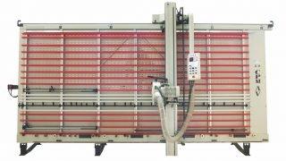 Sezionatrice verticale automatica Makk CPM-AV Taglio e Fresatura V-Grooving pannelli compositi (Alucobond)