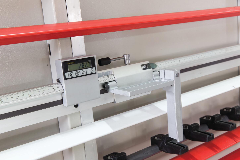 Visualizador digital para cortes verticales y horizontales.