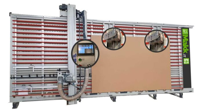 Automatic vertical panel saw MAKK DPM-KS-AV with lifting system panels