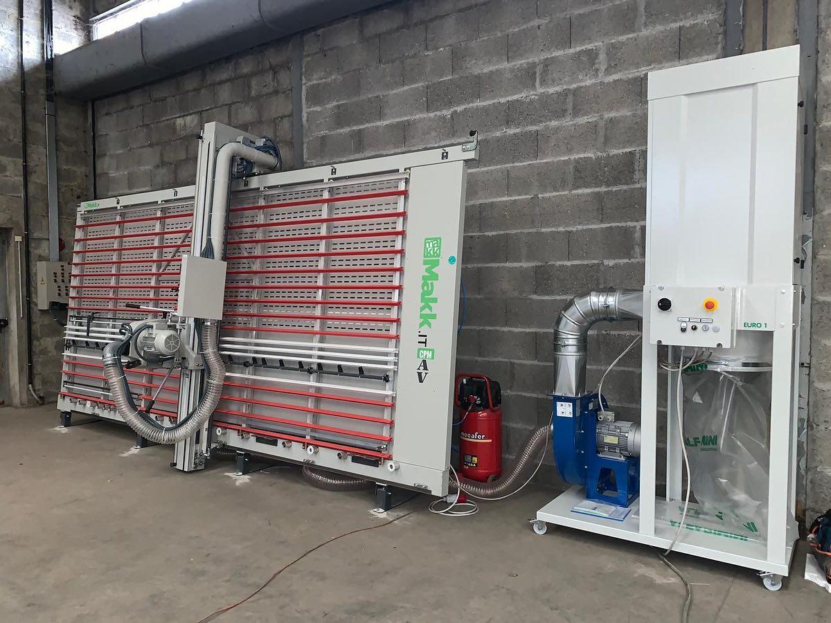 sezionatrice verticale automatica alucobond CPM-AV Makk