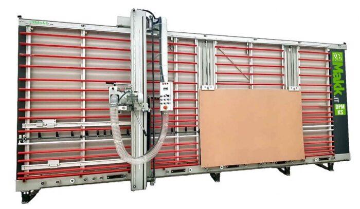 Sezionatrice Verticale MAKK DPM-KS taglio pannelli + sistema sollevamento pannelli